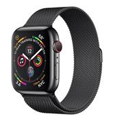 Apple Watch Series 4 - 44mm Space Black Stainless Steel/Space Black Milanese Loop (GPS+Cellular)