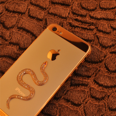 iPhone 5 Golden Armor Snake Gold Diamond